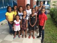Un groupe d'enfants parrainés