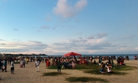 La plage de Tamatave le jour de Pâques
